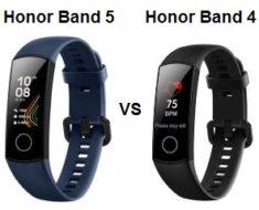 Honor Band 5 VS Honor Band 4 Comparison