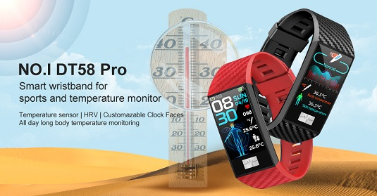NO.1 DT58 Pro Smart Band with body temperatures measurement
