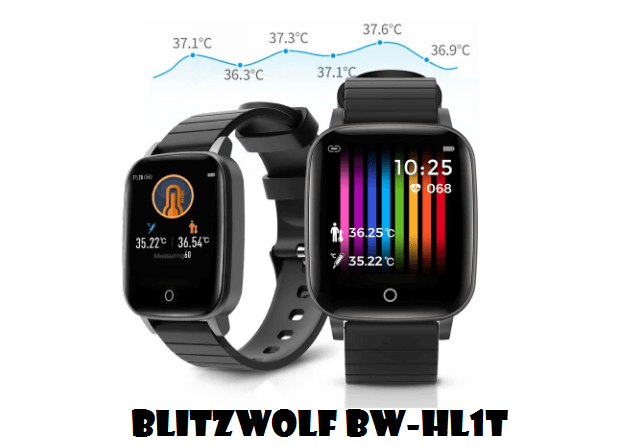 BlitzWolf BW-HL1T Smartwatch With Body temperature Monitoring