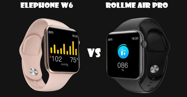 Elephone W6 VS Rollme Air Pro