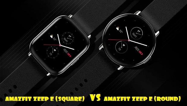 Amazfit Zeep E (Square) VS Zeep E (Round)