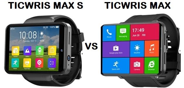 TICWRIS MAX S VS TICWRIS MAX SmartWatch Comparison