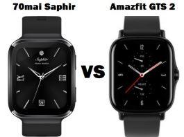 70mai Saphir VS Amazfit GTS 2