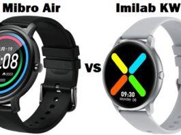 Xiaomi Mibro Air VS Imilab KW66 Smartwatch Comparison