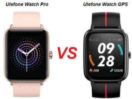 Ulefone Watch Pro VS Watch GPS SmartWatch Comparison