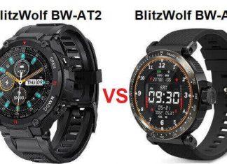 BlitzWolf BW-AT2 VS BW-AT1 SmartWatch Comparison
