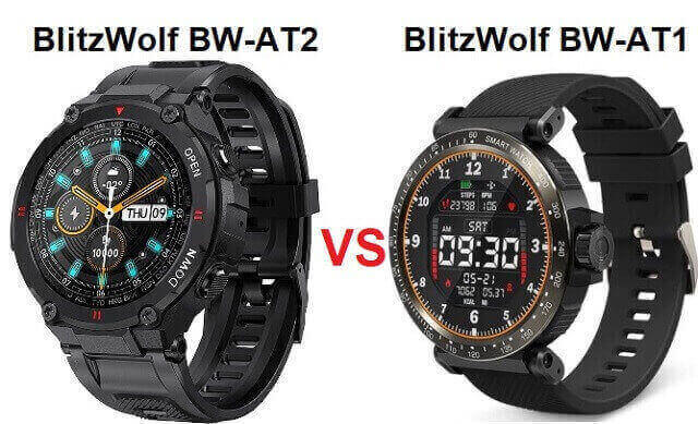 BlitzWolf BW-AT2 VS BW-AT1 SmartWatch Comparison