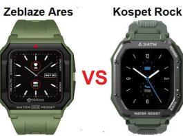 Zeblaze Ares VS Kospet Rock Smartwatch Comparison