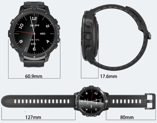 BlitzWolf BW-BE1 4G smartwatch Design