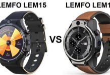 LEMFO LEM15 VS LEMFO LEM14 SmartWatch Comparison