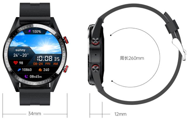 Vwar REX Pro SmartWatch Design