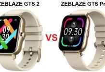 Zeblaze GTS 2 VS Zeblaze GTS Pro SmartWatch
