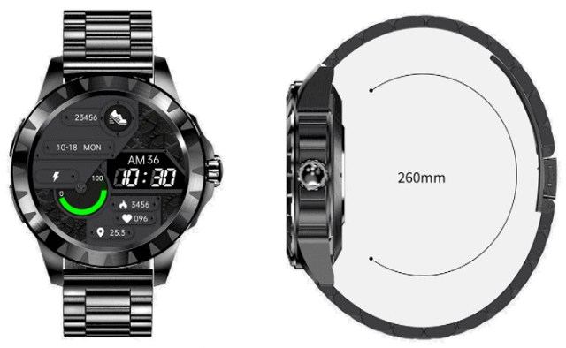 LEMFO LEM Z SmartWatch Design