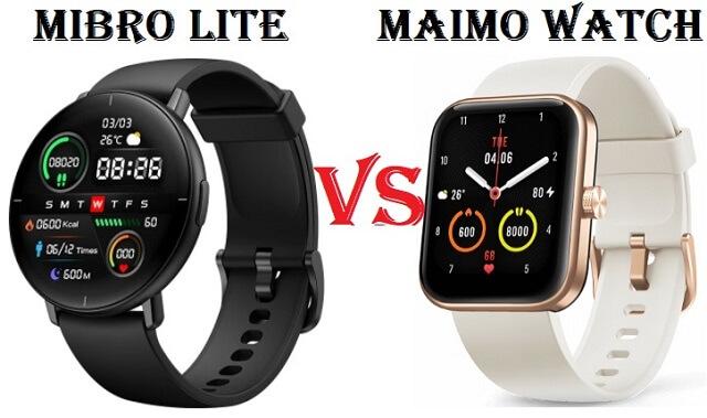 Maimo Watch VS Mibro Lite Smartwatch